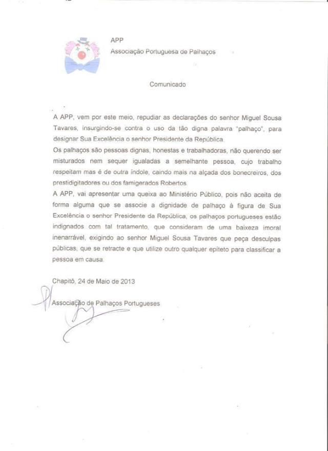 associação portugesa de palhaços