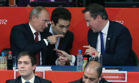 Vladimir Putin and David Cameron