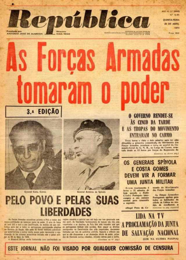 jornal República 25 Abril 1974