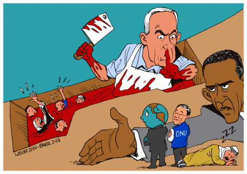 Carniceiro Netanyahu