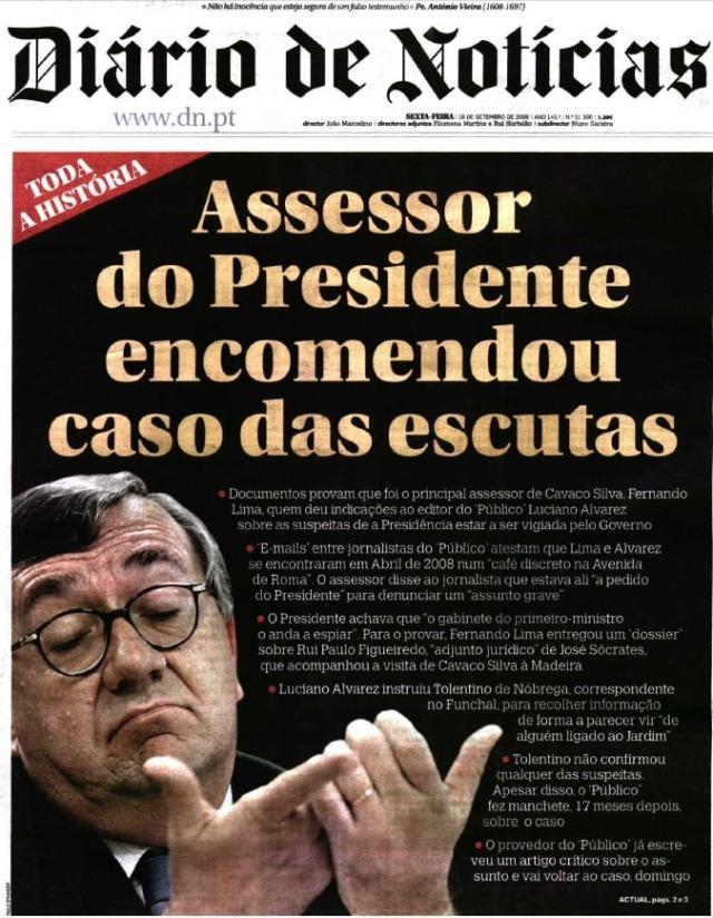 Resultado de imagem para Diário de Notícias Fernando LIma