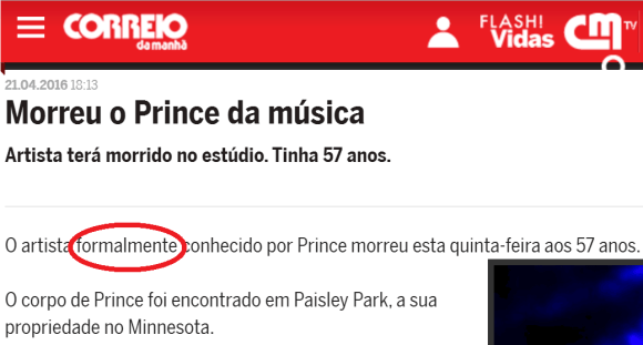 Prince formalmente
