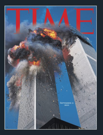 Capa da revista TIME, com fotografia de Lyle Owerko em 11 de Setembro de 2001