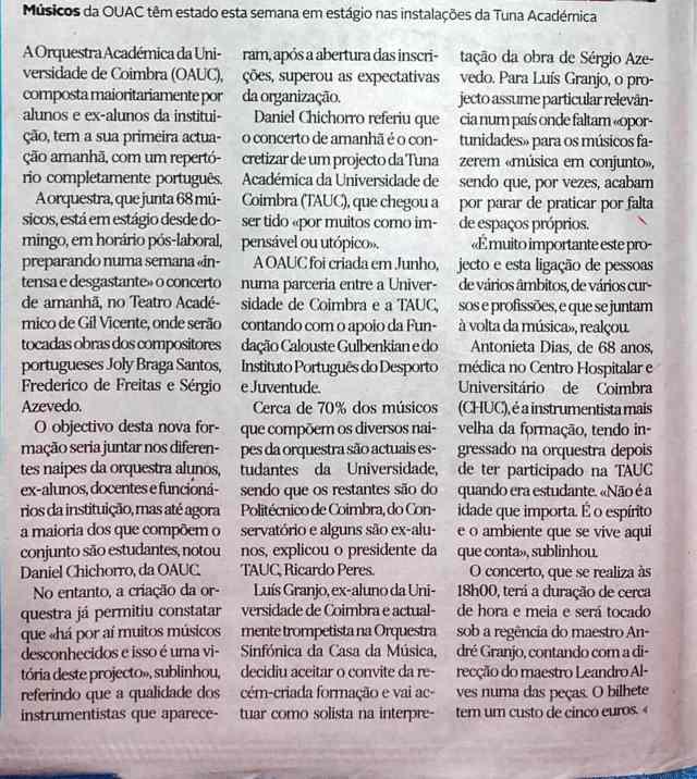 Orquestra Académica da Universidade de Coimbra (OAUC)