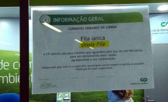 Aviso CP Estação de Entrecampos, Lisboa