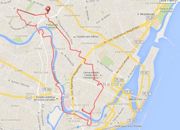 Route, 16 km