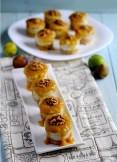 Mini cheesecakes de gorgonzola con coulis de higos II