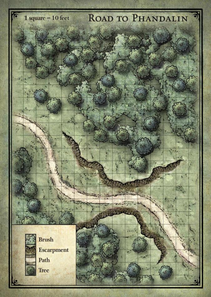 mapa caminho de phandalin