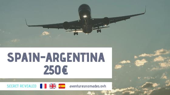 Espagne_argentine_avion_250_euros