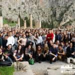 à Delphes, avec les copains d'Erasmus, 2014