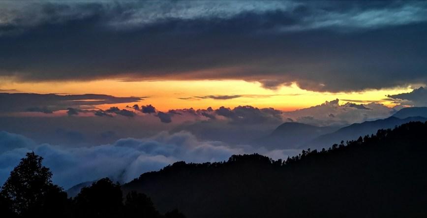 San josé del Pacífico - clouds and sunset atardecer nuages coucher de soleil