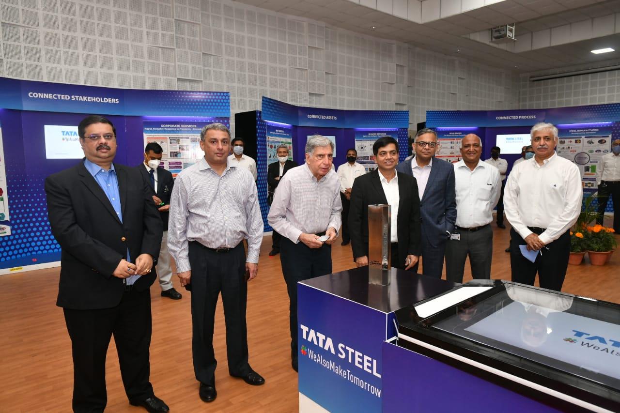 Ratan Tata inaugurates exhibition at Steelenium Hall inside Jamshedpur Works - Avenue Mail