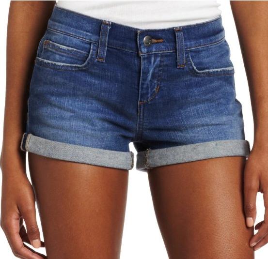 Joe's Jeans Women's Rolled blue denim shorts