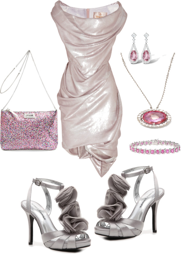 Pink evening bag glitter special occasion handbag