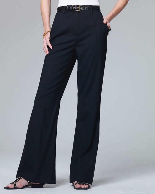 Dark navy wool trousers