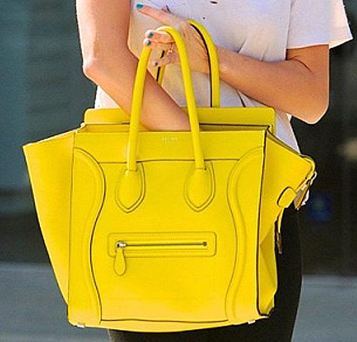 Miley Cyrus Celine Yellow Citron Mini Luggage Bag