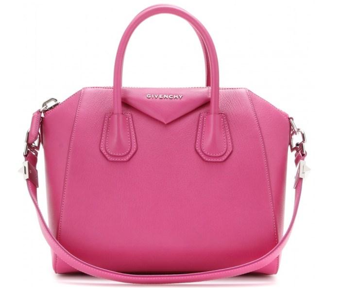 Givenchy Antigona fuchsia pink leather tote