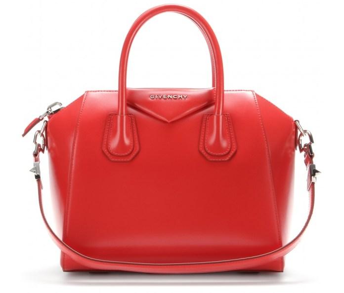 Givenchy Antigona medium red leather bag