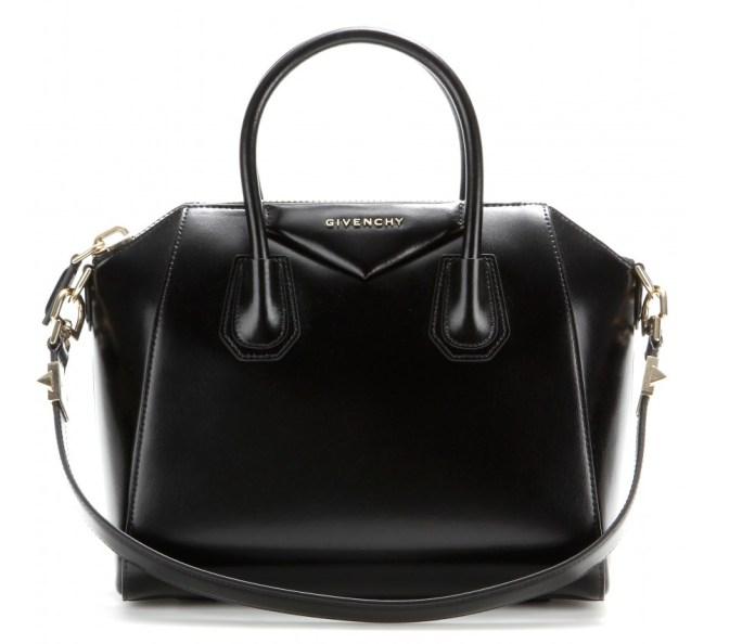Givenchy Antigona small black leather tote bag