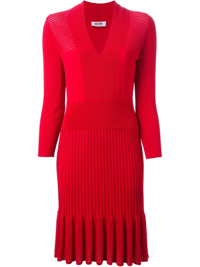 MOSCHINO CHEAP & CHIC ribbed knit dress