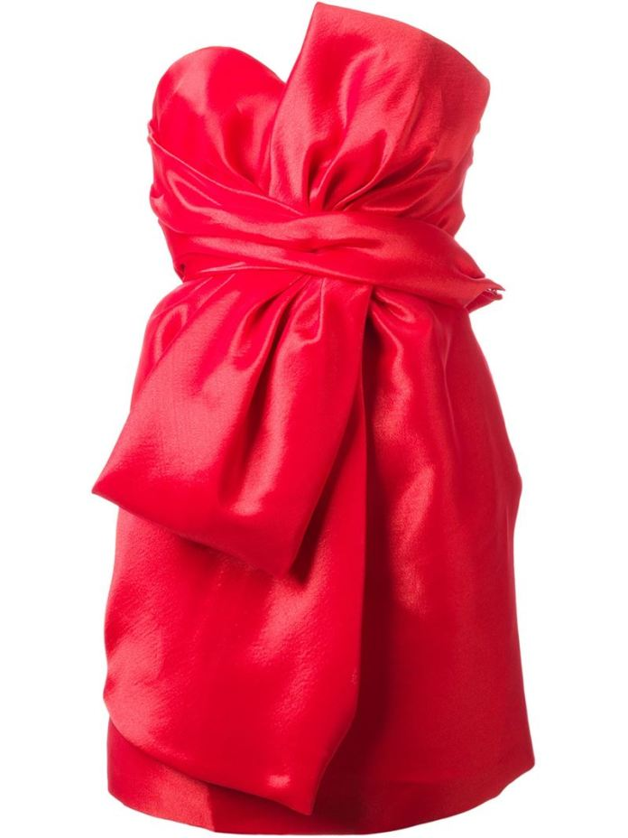 MOSCHINO bow detail dress