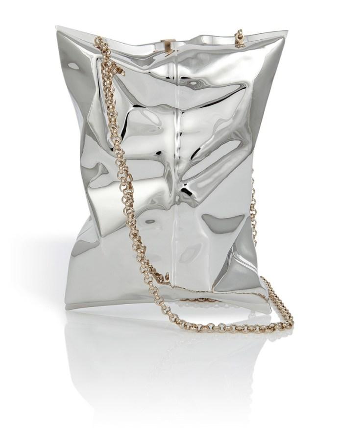 ANYA HINDMARCH Metal Crisp Packet Clutch