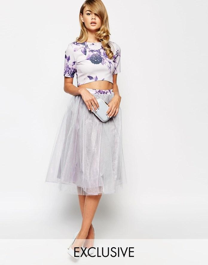 ASOS lilac True Violet Full Prom Tulle Skirt