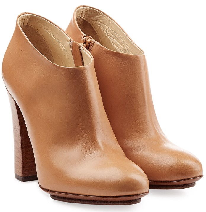 L'AUTRE CHOSE caramel Leather Ankle Boots
