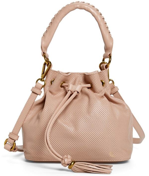 Elliott Lucca Gigi Bon Bon Perforated Leather Drawstring Bag