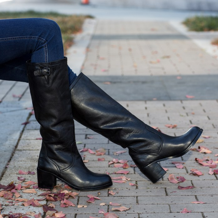Dolce Vita Jeneva black leather knee high boots