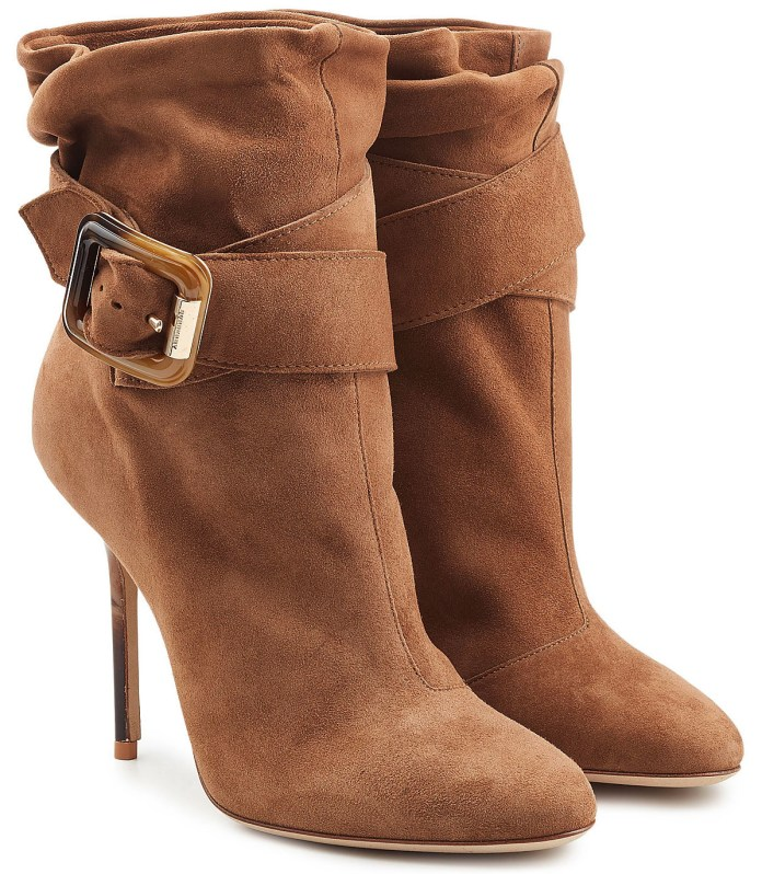 Burberry brown suede ankle boots