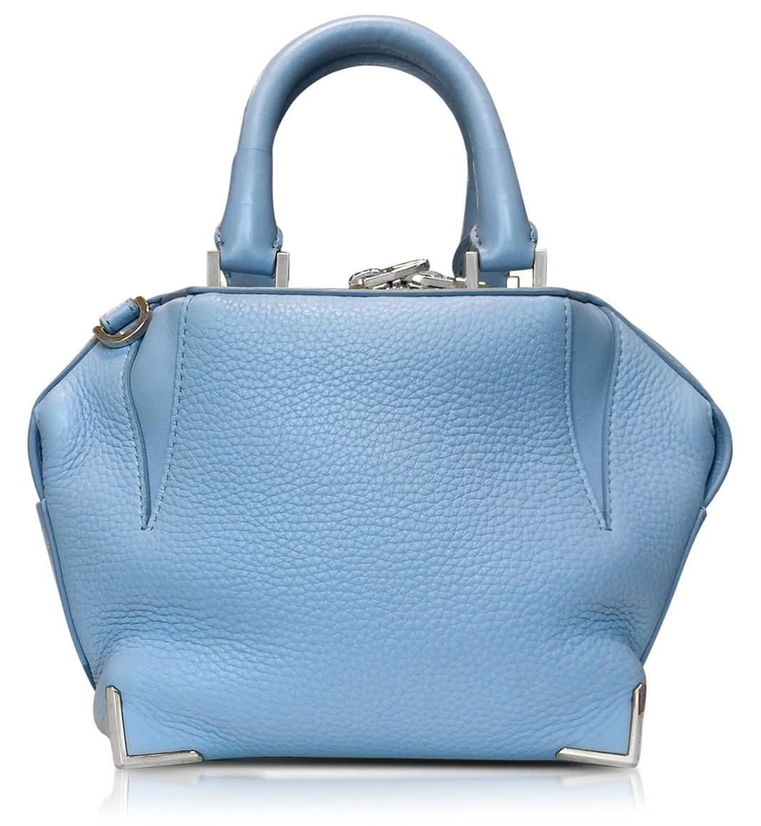 Designer handbags - Alexander Wang Light Blue Mini Emilie Atlas Soft Pebbled Leather Tote
