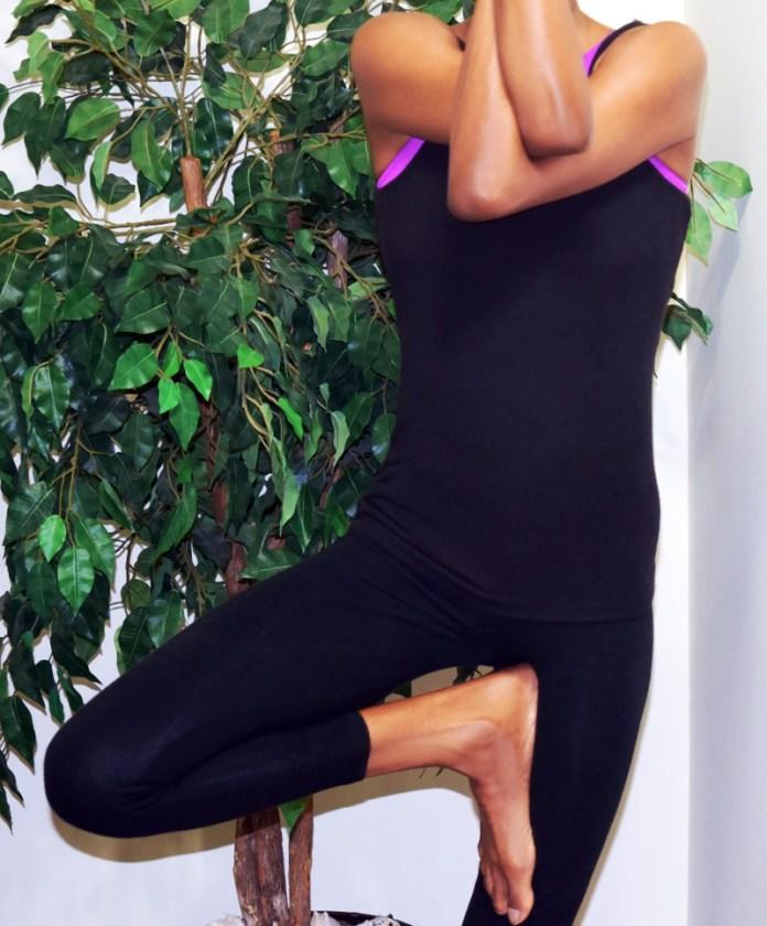 yoga posing saturday march
