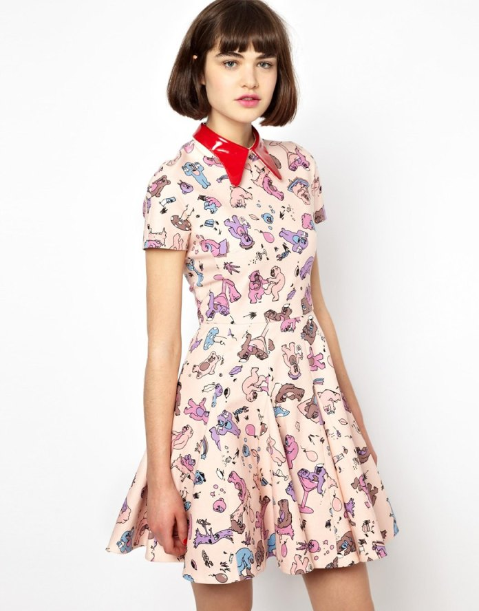 Antipodium Cry Baby Dress in Pink Picnic Print