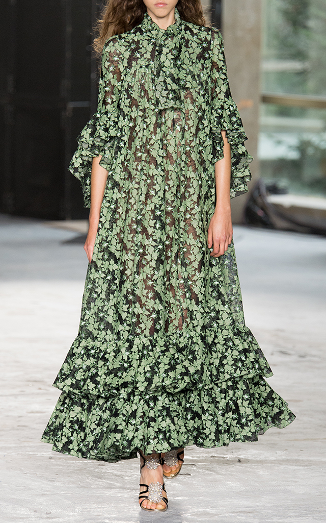 Giambattista Valli embroidered leaf dress - image via ModaOperandi.com