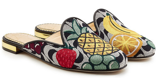 Charlotte Olympia fruit salad slides loafers