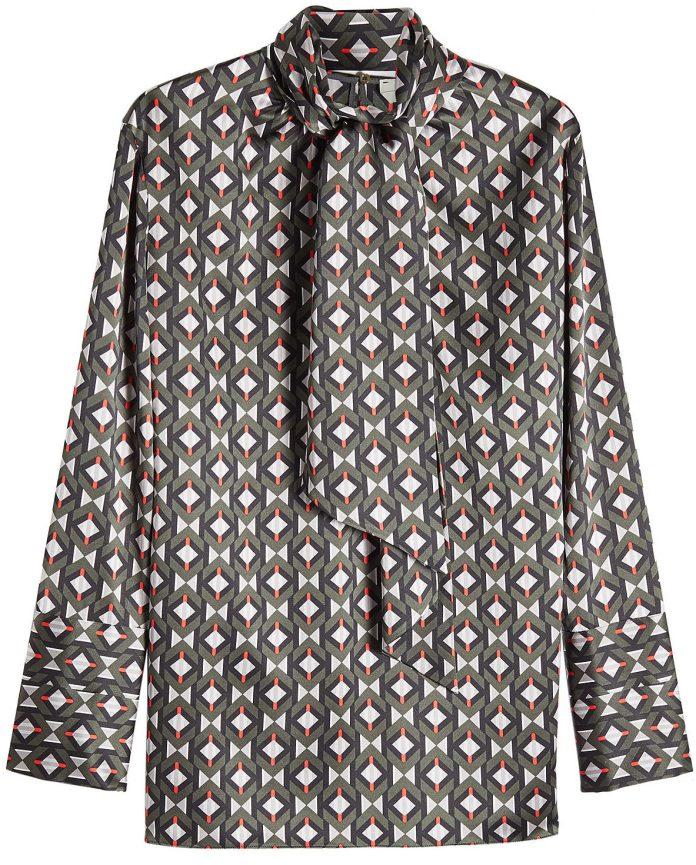 Fendi blouses printed silk blouse