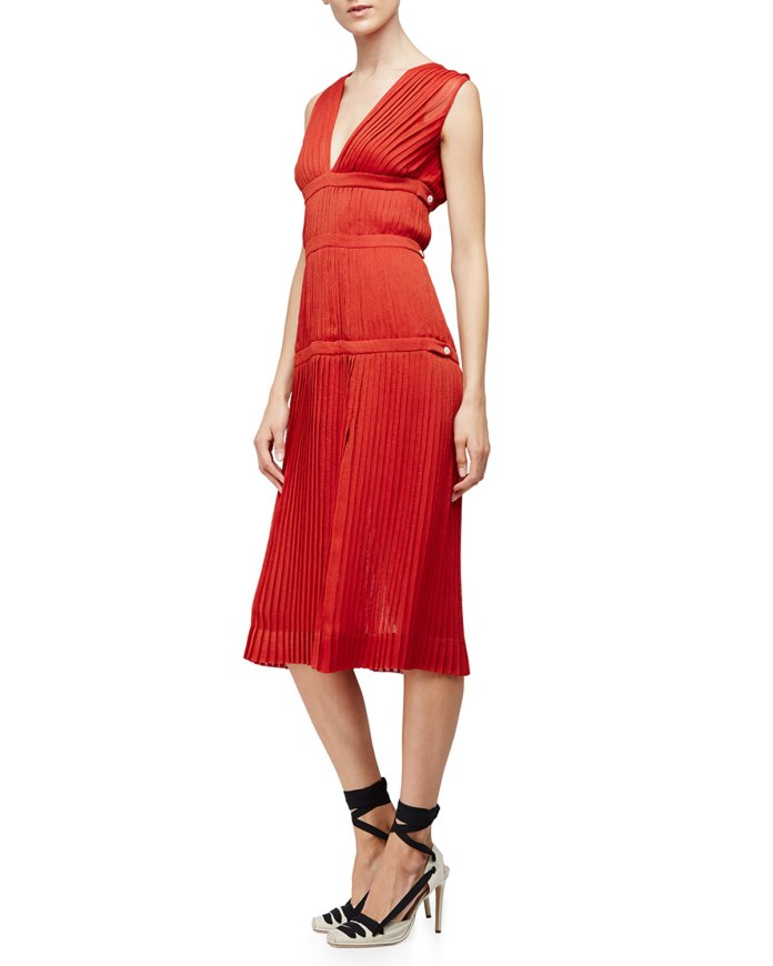 Altuzzara Sleeveless Plisse A-Line Dress Windsor
