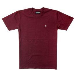 Avenue Maroon/Silver Core Logo T-Shirt