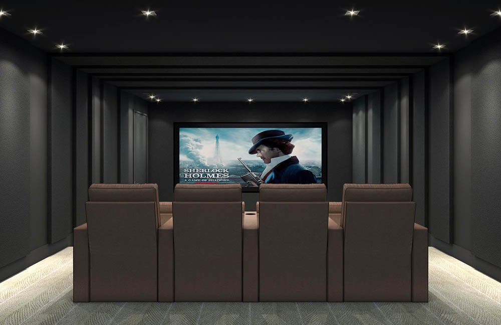 Lawrence Ave | Custom Home Theater Design by Avenue Theater