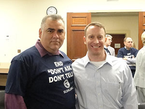 Ben Gomez and Air Force Major Mike Almy. Major Almy recently testified at the Senate Armed Services Committee.