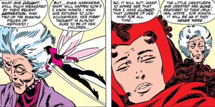 Agatha Harkness with Scarlet Witch