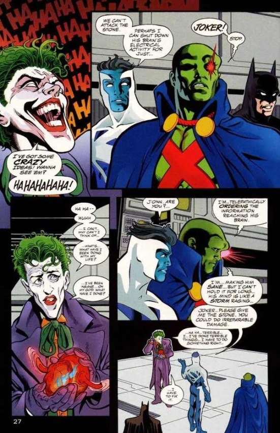 Martian Manhunter made Joker sane again