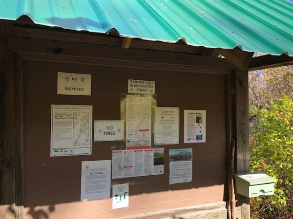 Kiosk on Appalachian Trail