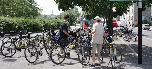 There are many bike rentals options in Montreal