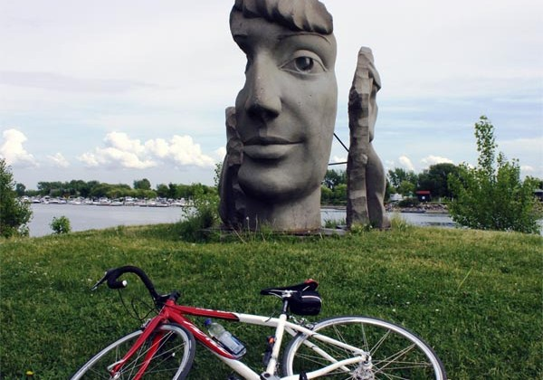 The Lachine Canal in Montreal showcases some spectacular art