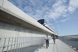 The magnificent new Richmond bridge for skytrains, bikes, and pedestrians