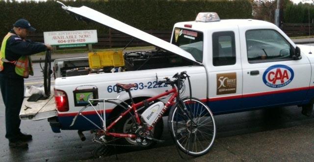 BCAA truck - no tools, no training, no bike rack ...