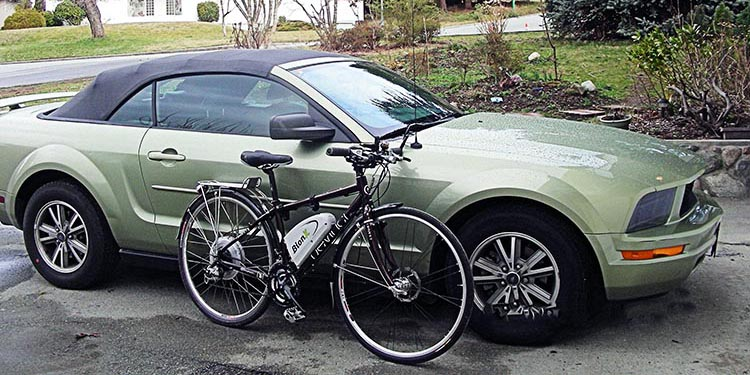 Don't we all assume that cars are faster and easier than bikes?