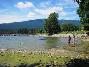Once you've mastered the Springboard Trail in Belcarra Park, head back down to the lake for a picnic